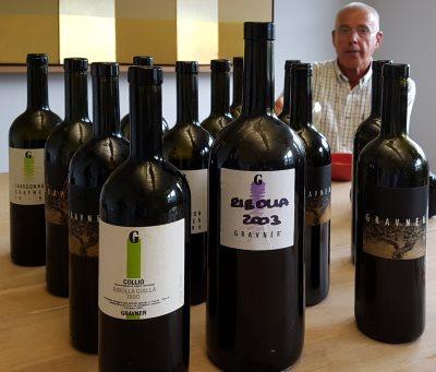 Josko Gravner with wines