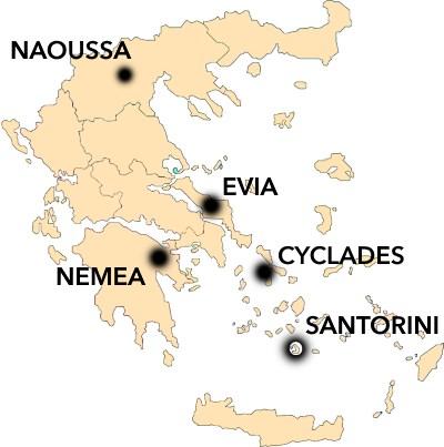 Greek Wine Map