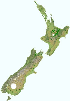 Central Otago map